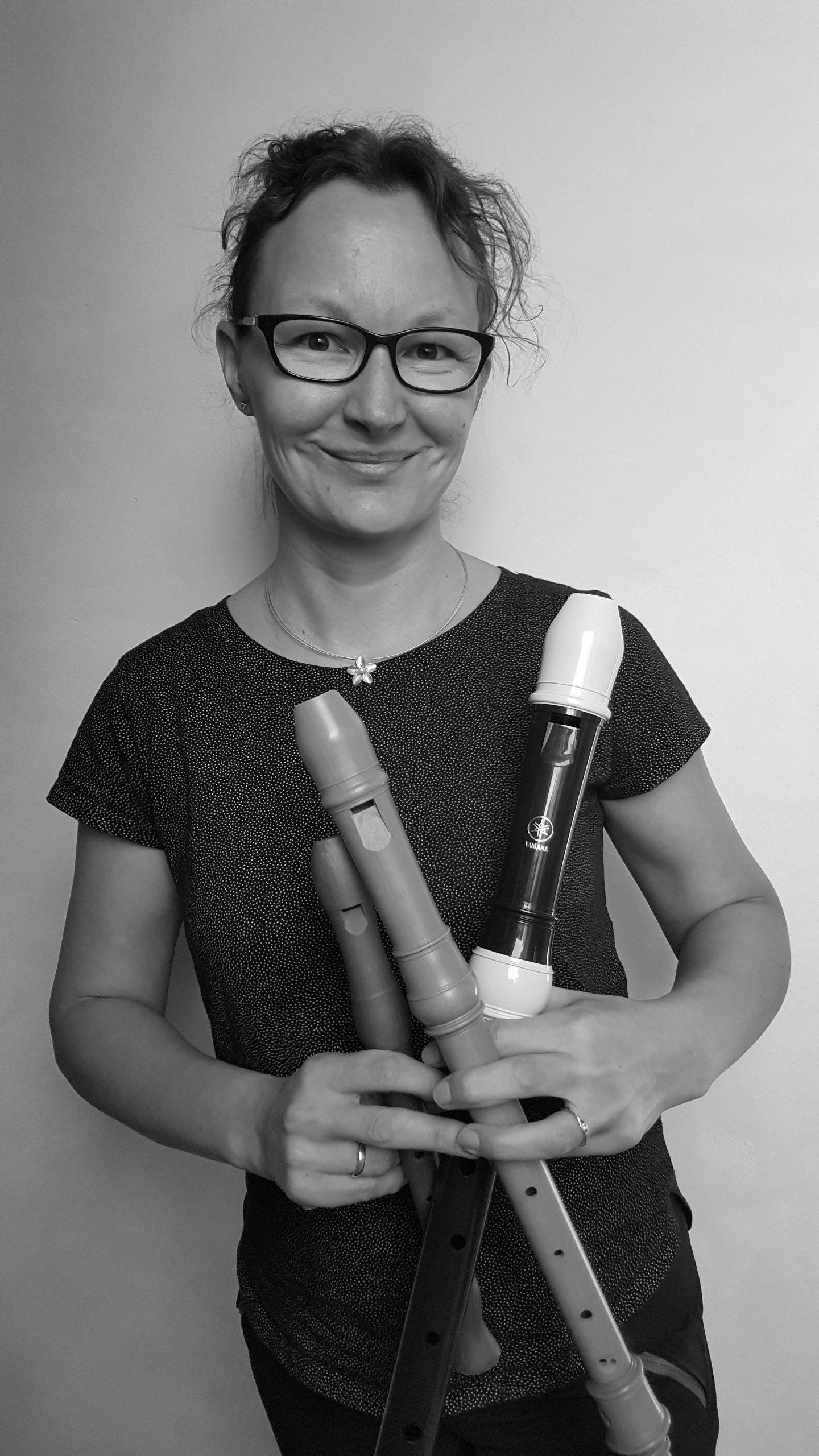 Musiklehrerin Sarah Nöltner - Blockflöte